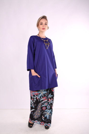 Kurung Citra Mak Cun (Electric Blue)