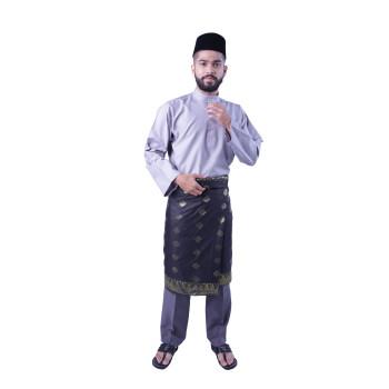 Baju Melayu Teluk Belanga Khalif (Grey)