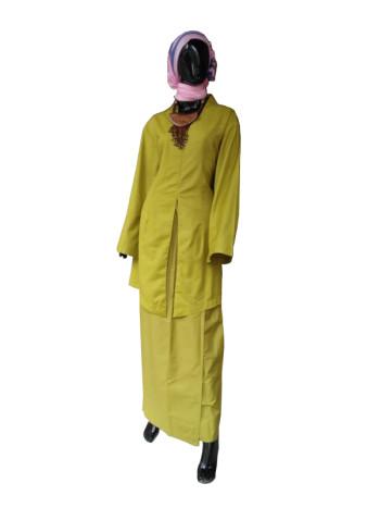 KEBAYA MODEN - LIME GREEN