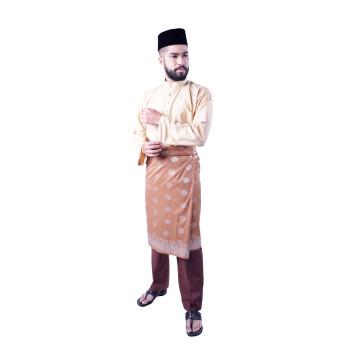 Baju Melayu Teluk Belanga Khalif (Light Brown)