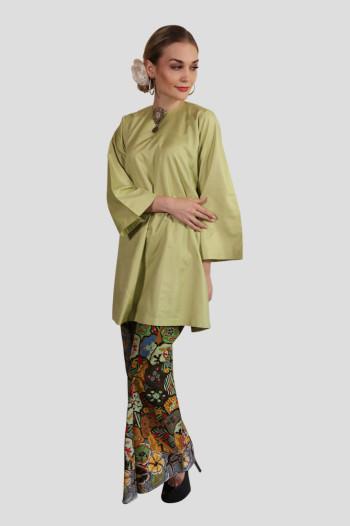 Kurung Manja Mak Cun (Lime Green)