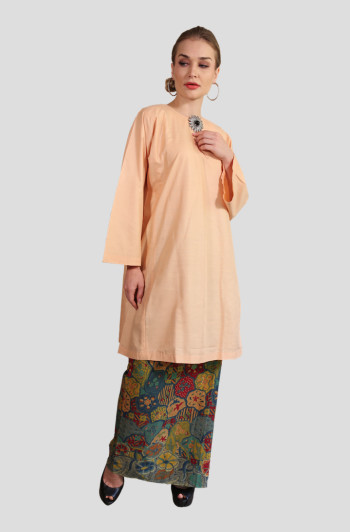 Kurung Manja Mak Cun (Light Orange)