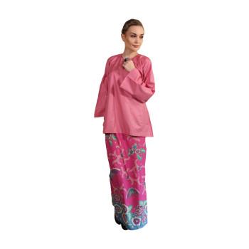 Kurung Kedah Kain Batik Mak Cun (Pink)