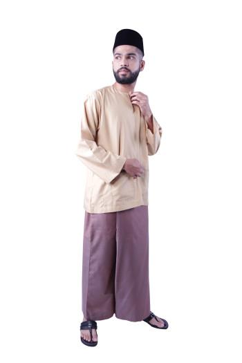 Baju Melayu Nusantara Khalif (Light Brown)