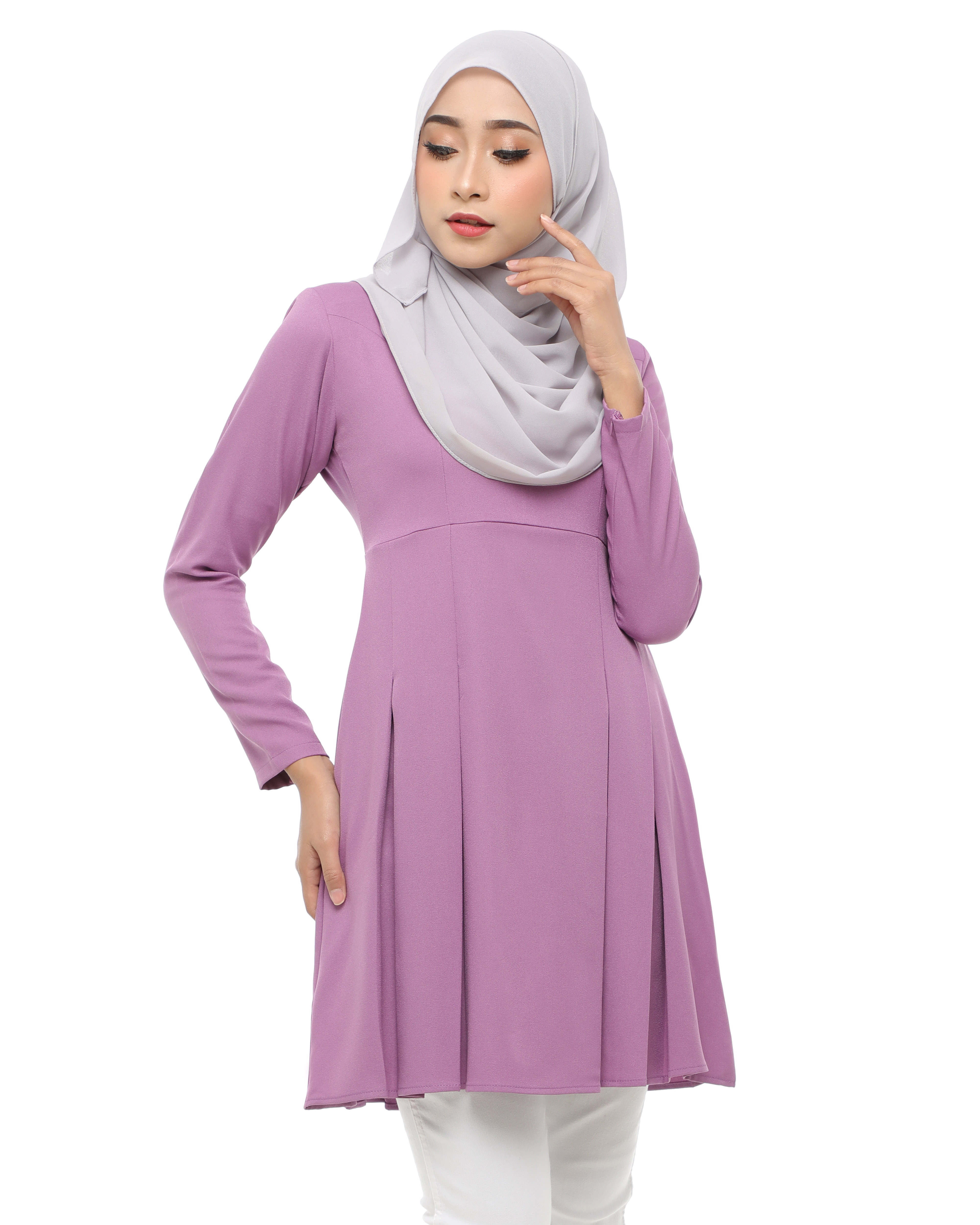 Elvina Blouse - Pearly Purple