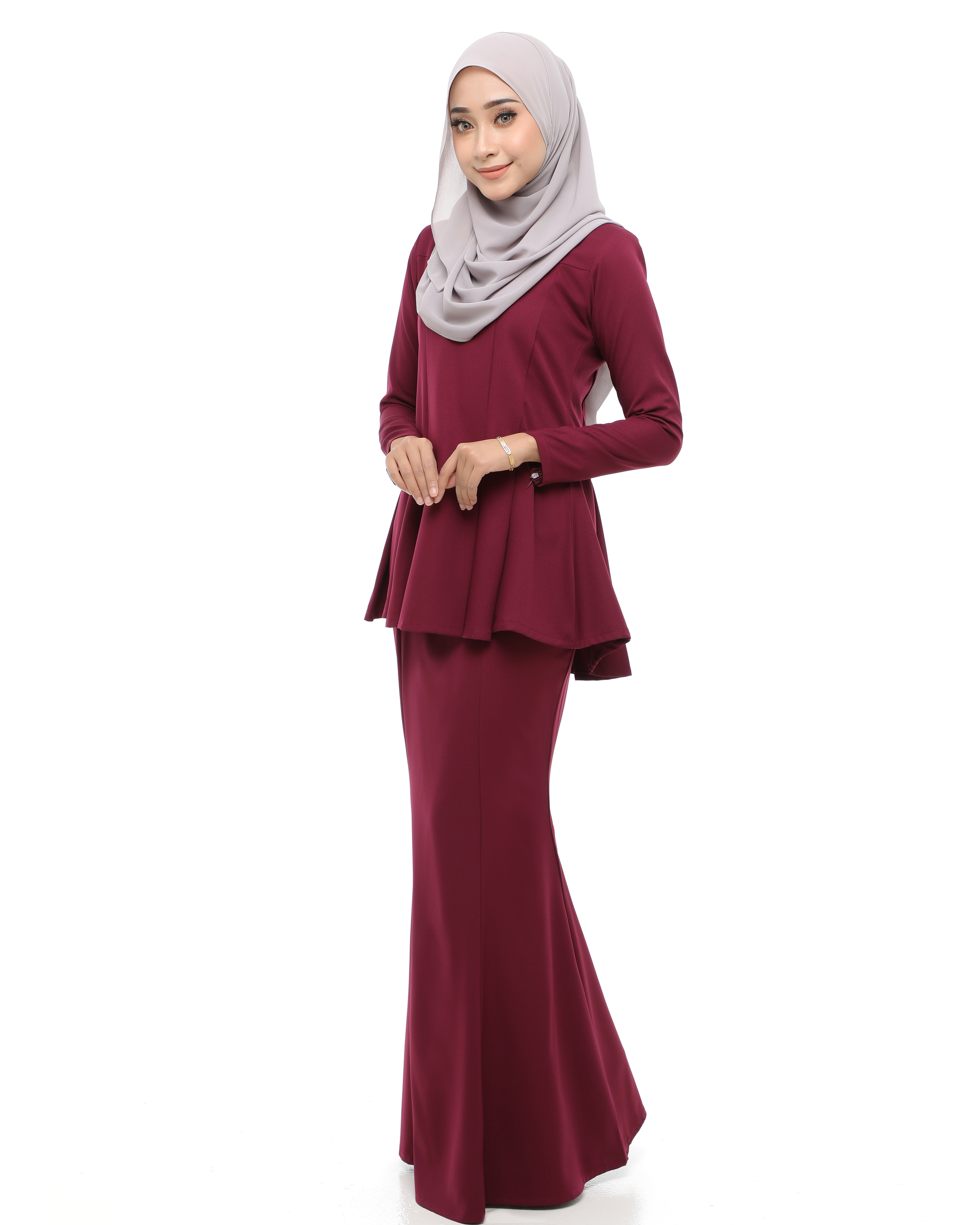Estella - Purplish Maroon