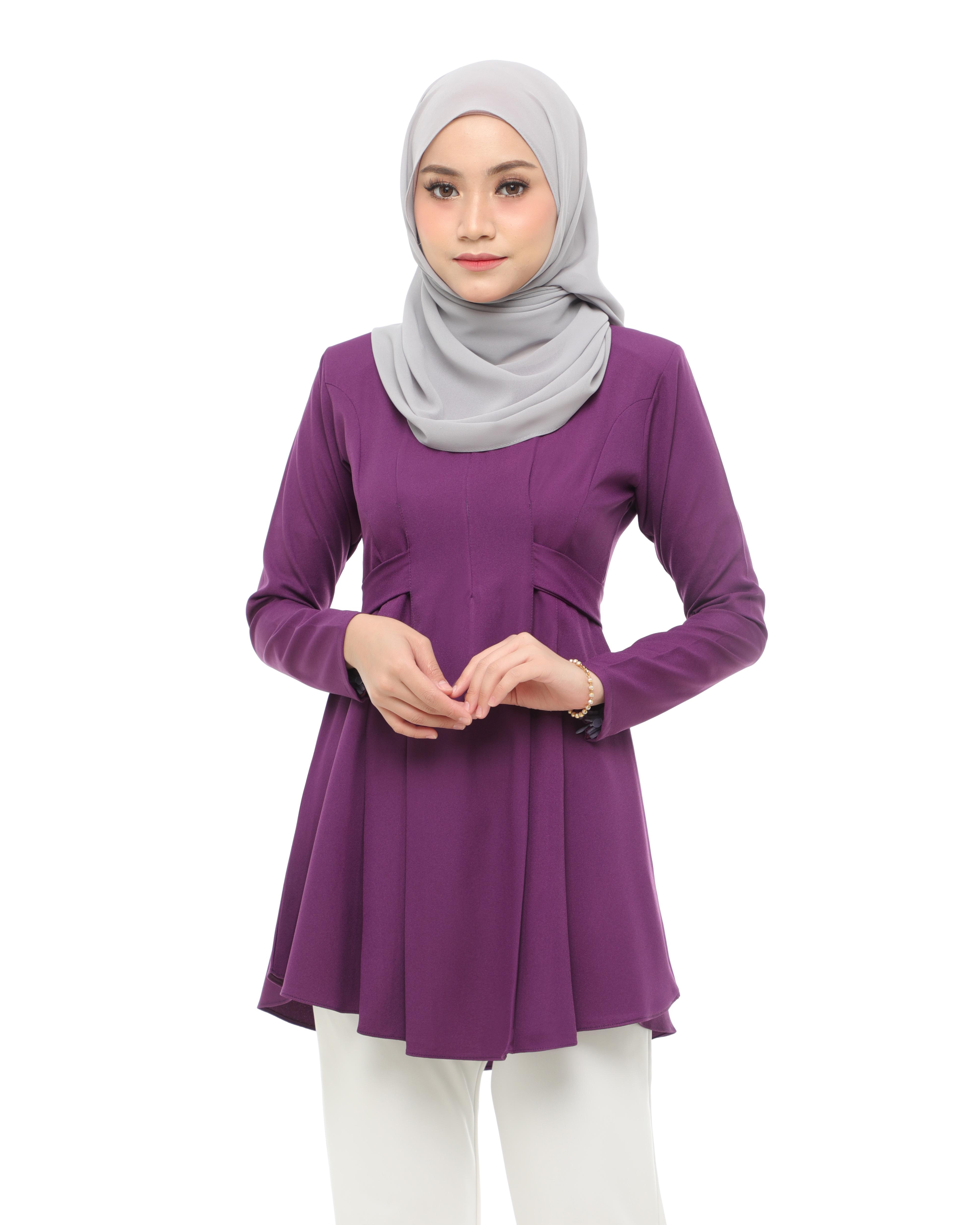 Callista Blouse - Violet Purple