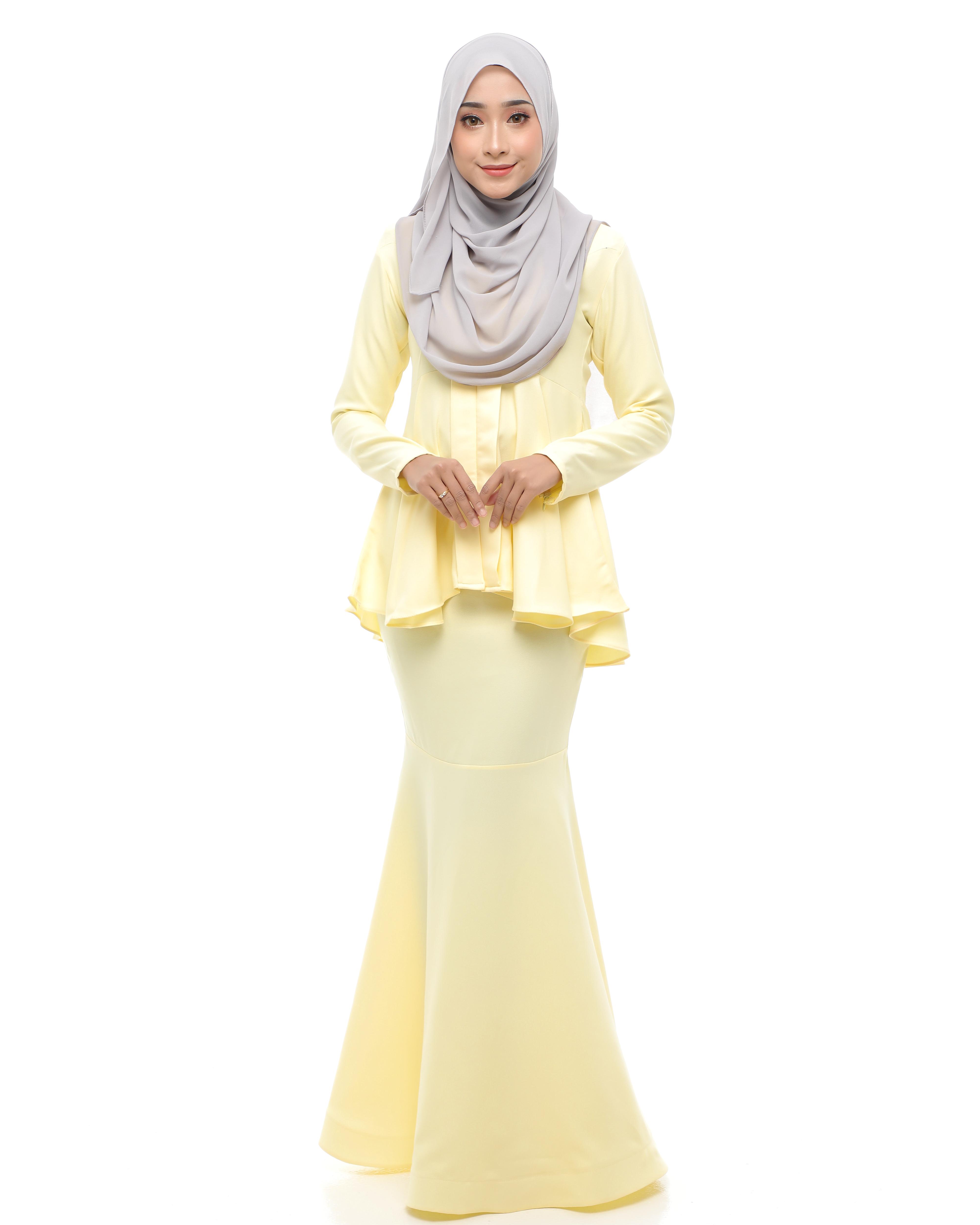 Kebaya Peplum 2.0 - Soft Yellow