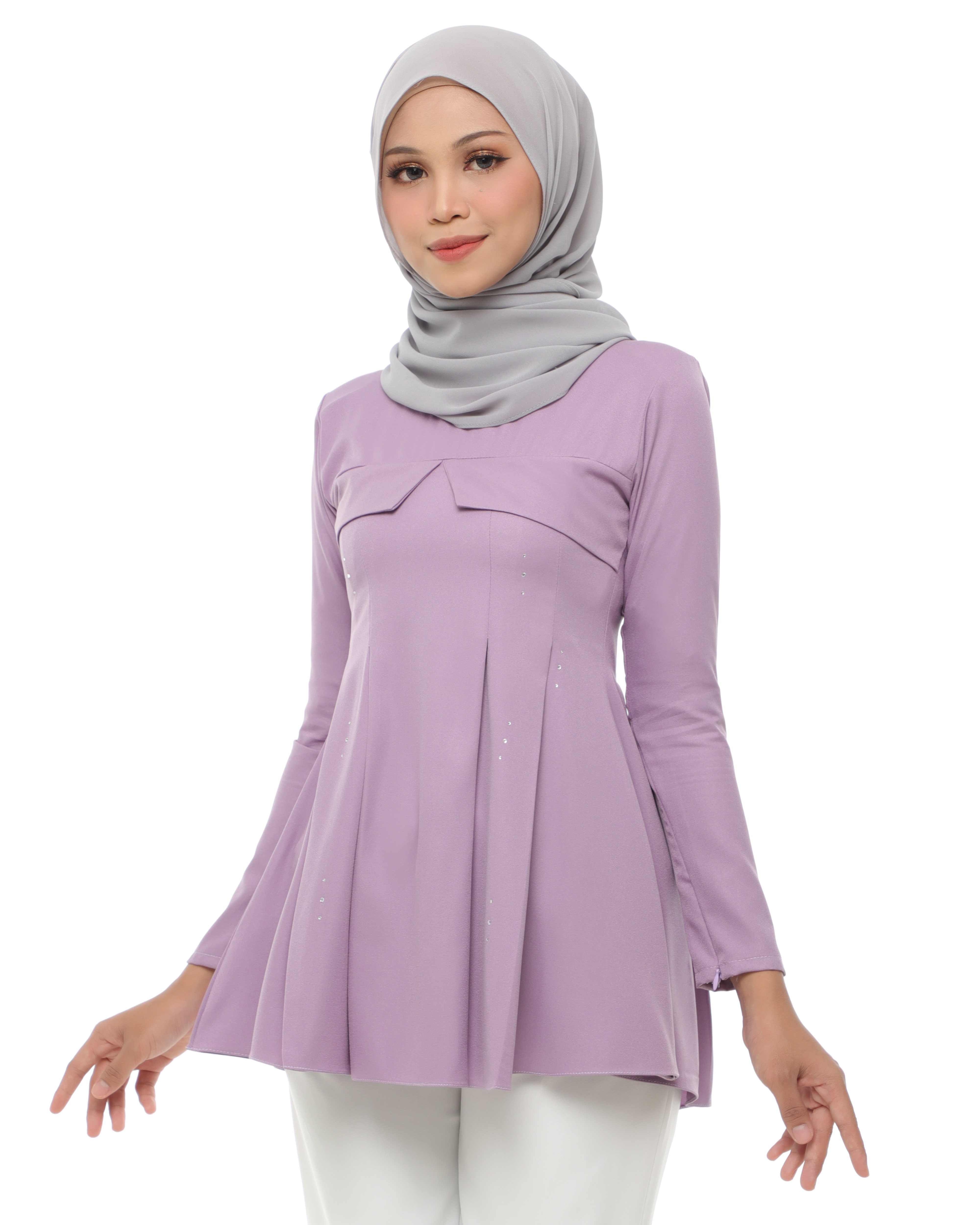 Carissa Blouse - Lily Purple