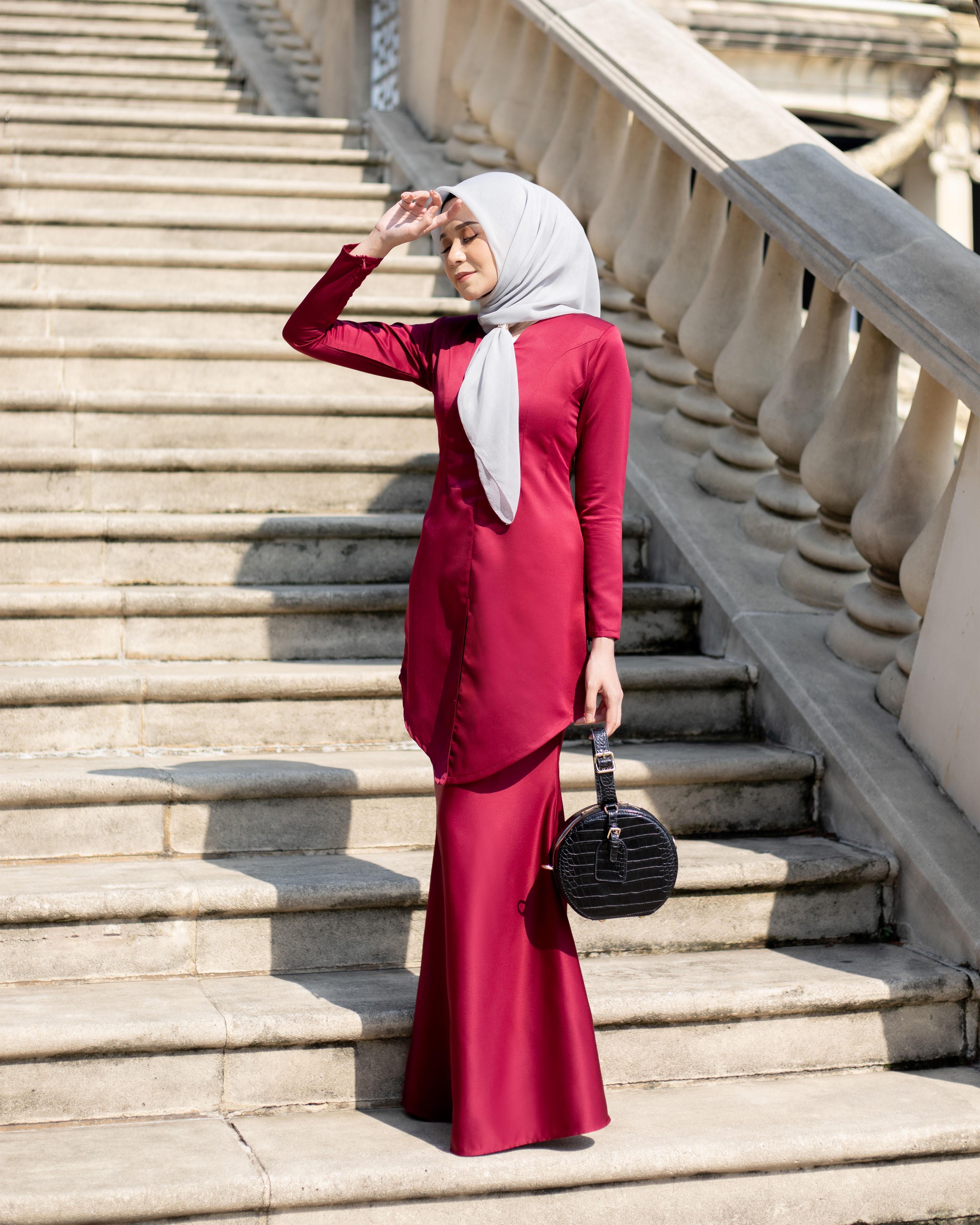 Fateema Kebaya - Maroon