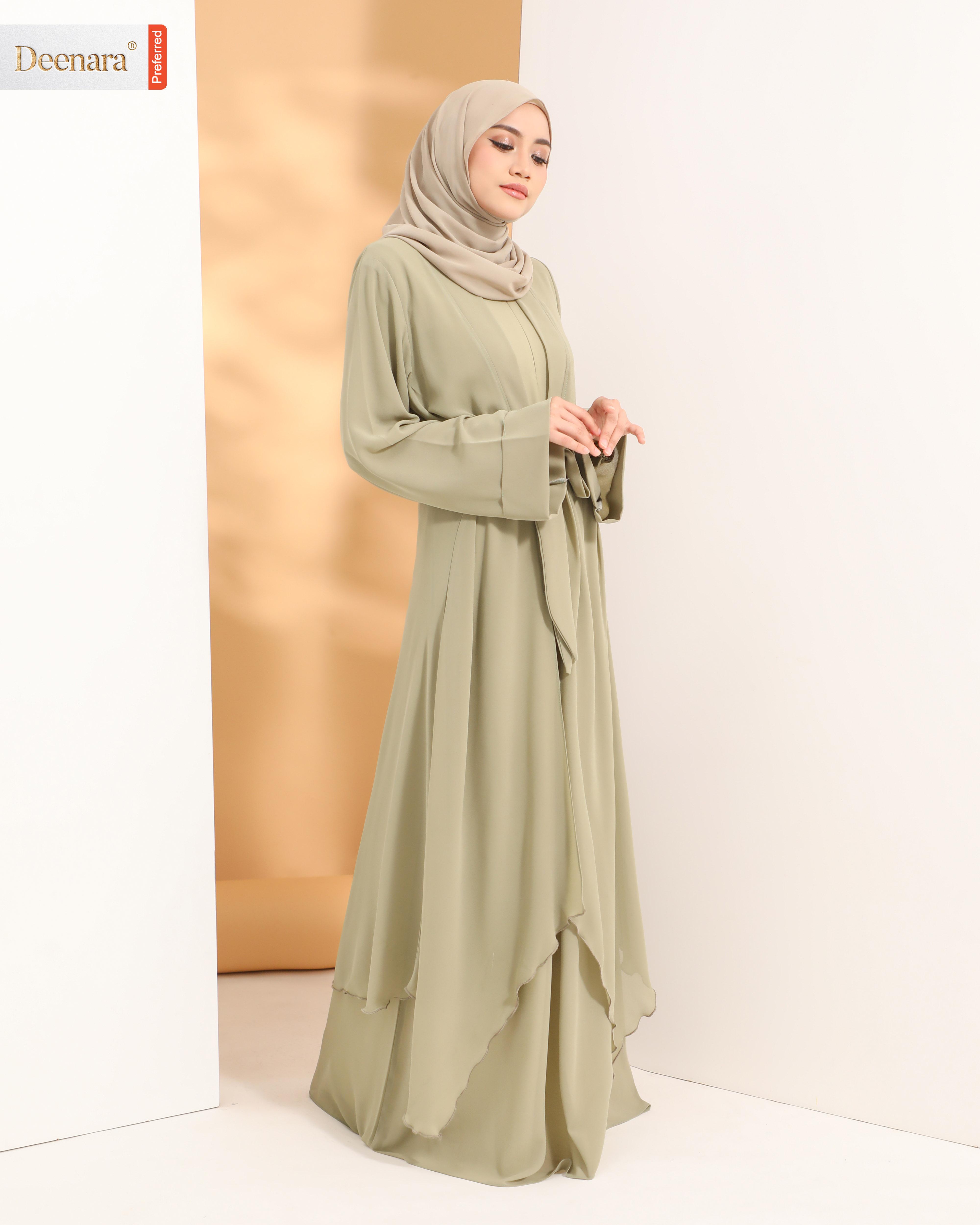 Aafiya Abaya Dress - Olive