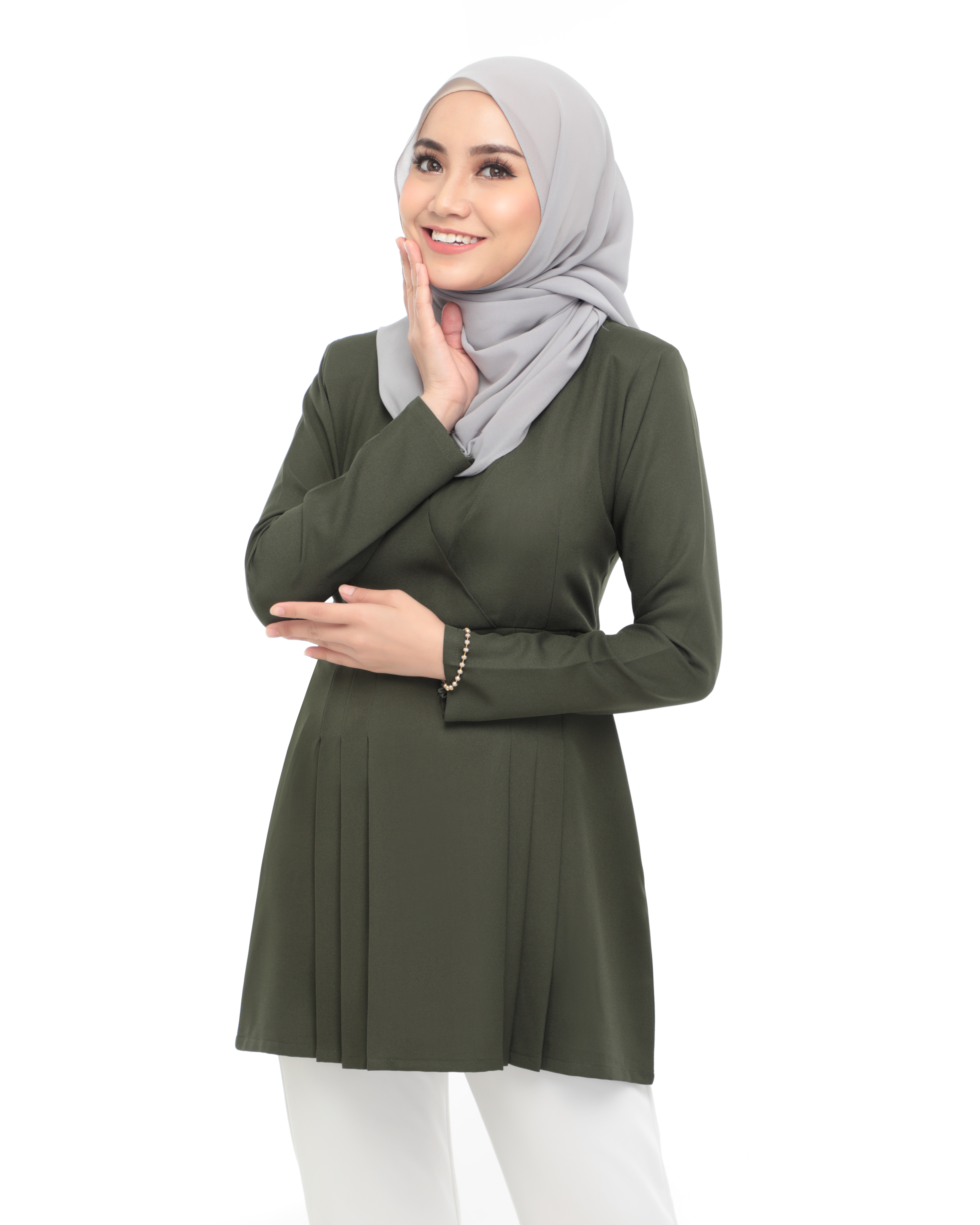 Carina Blouse -  Army Green