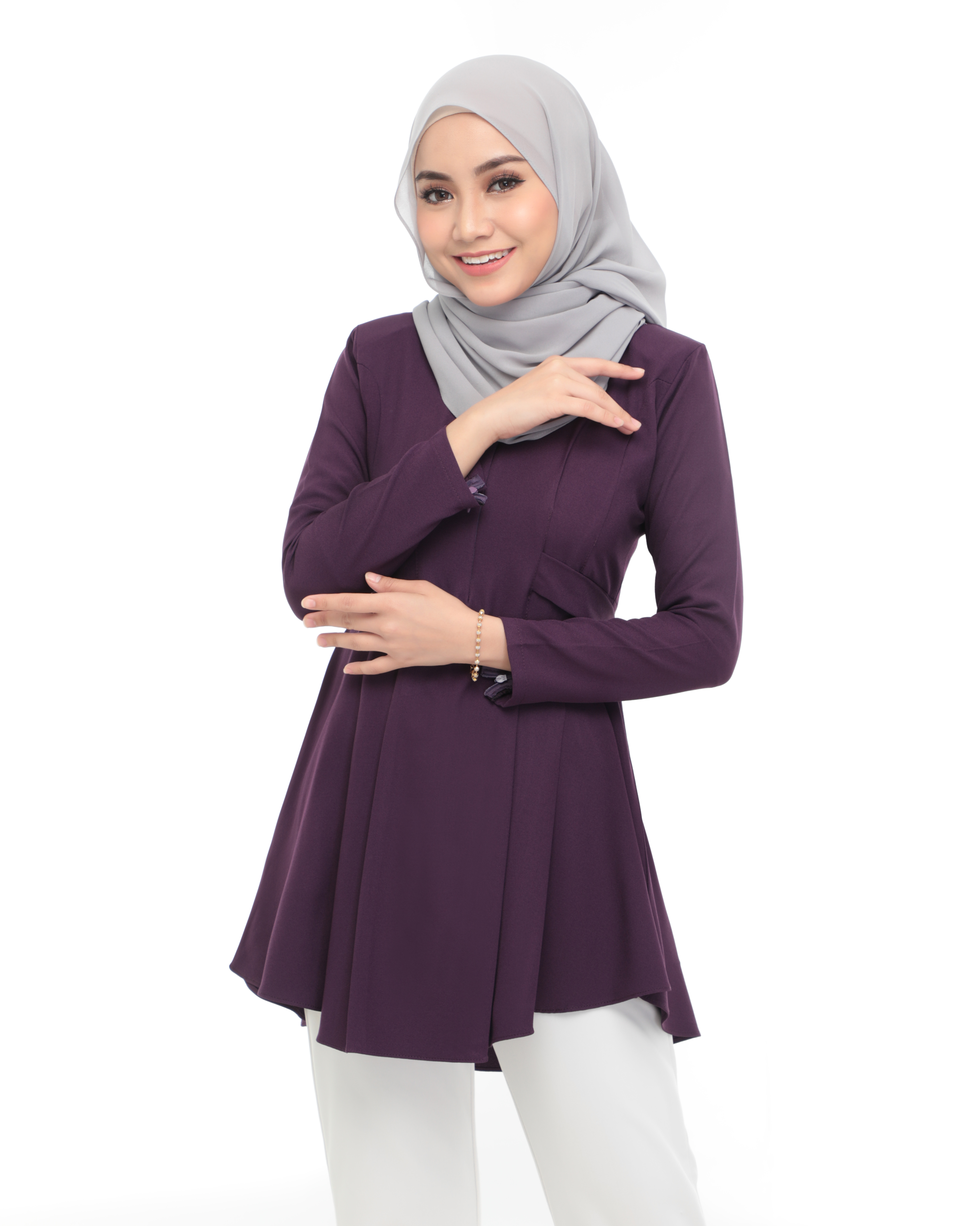 Callista Blouse - Dark Purple
