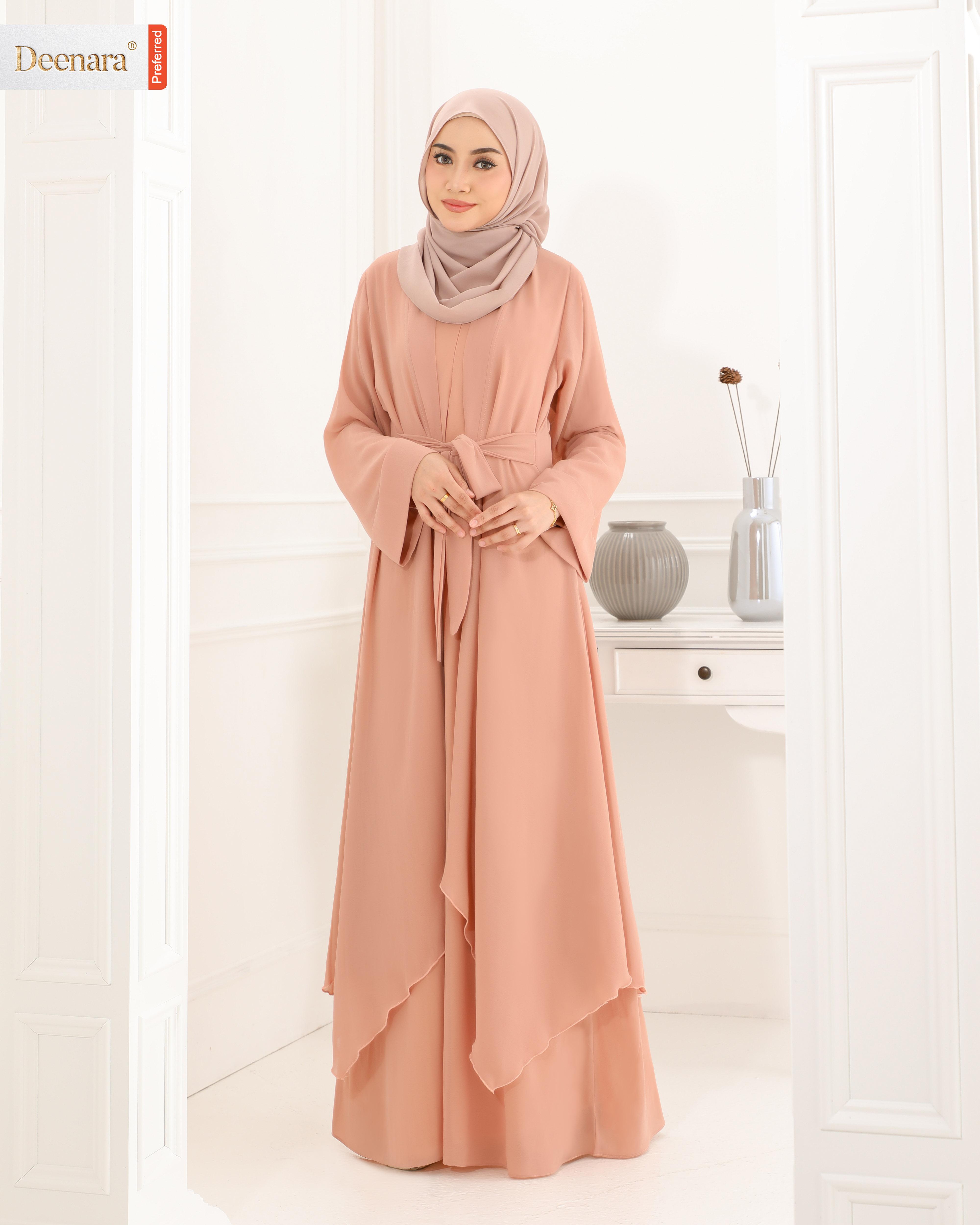 Aafiya Abaya Dress - Dusty Peach