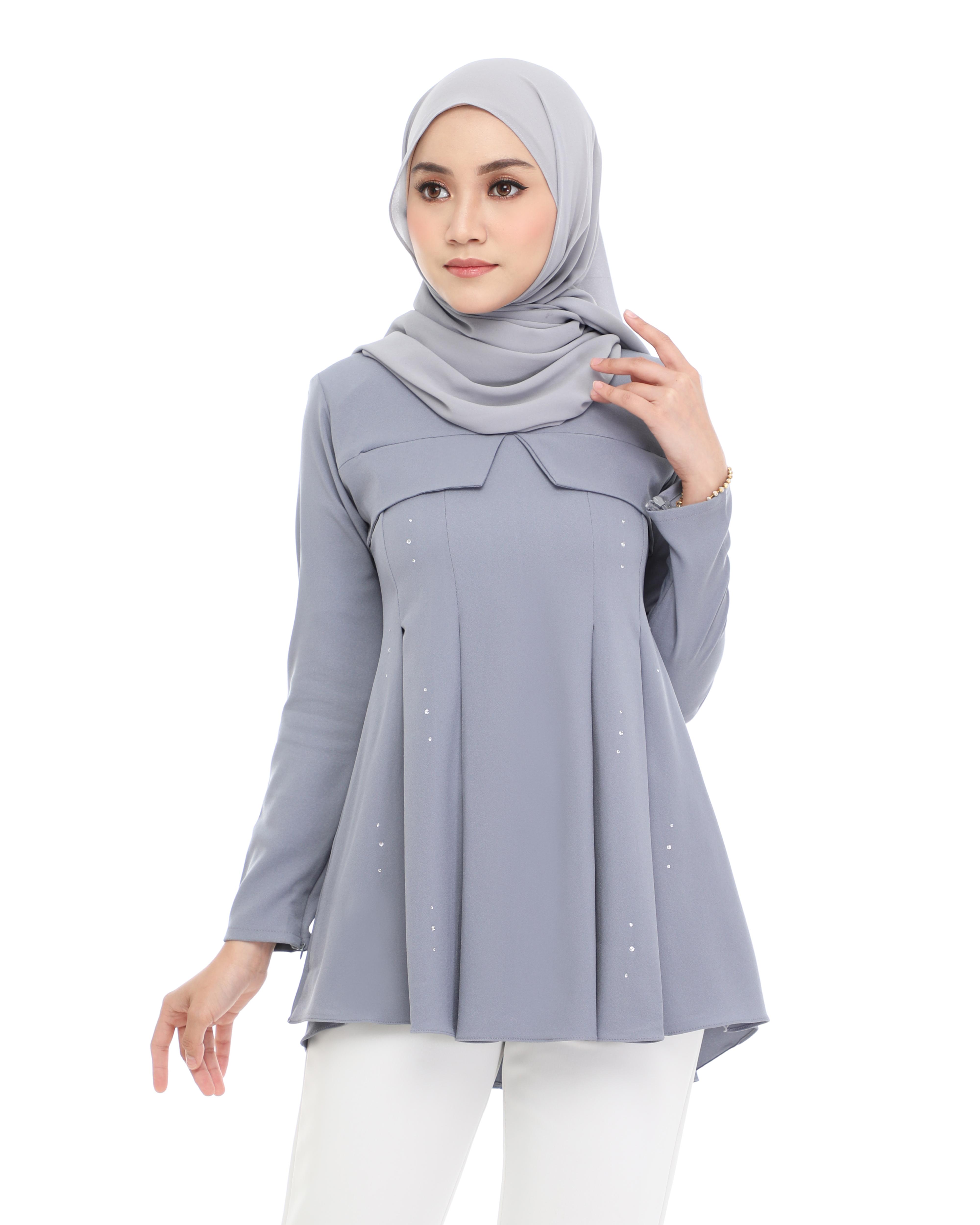 Carissa Blouse - Bluish Grey