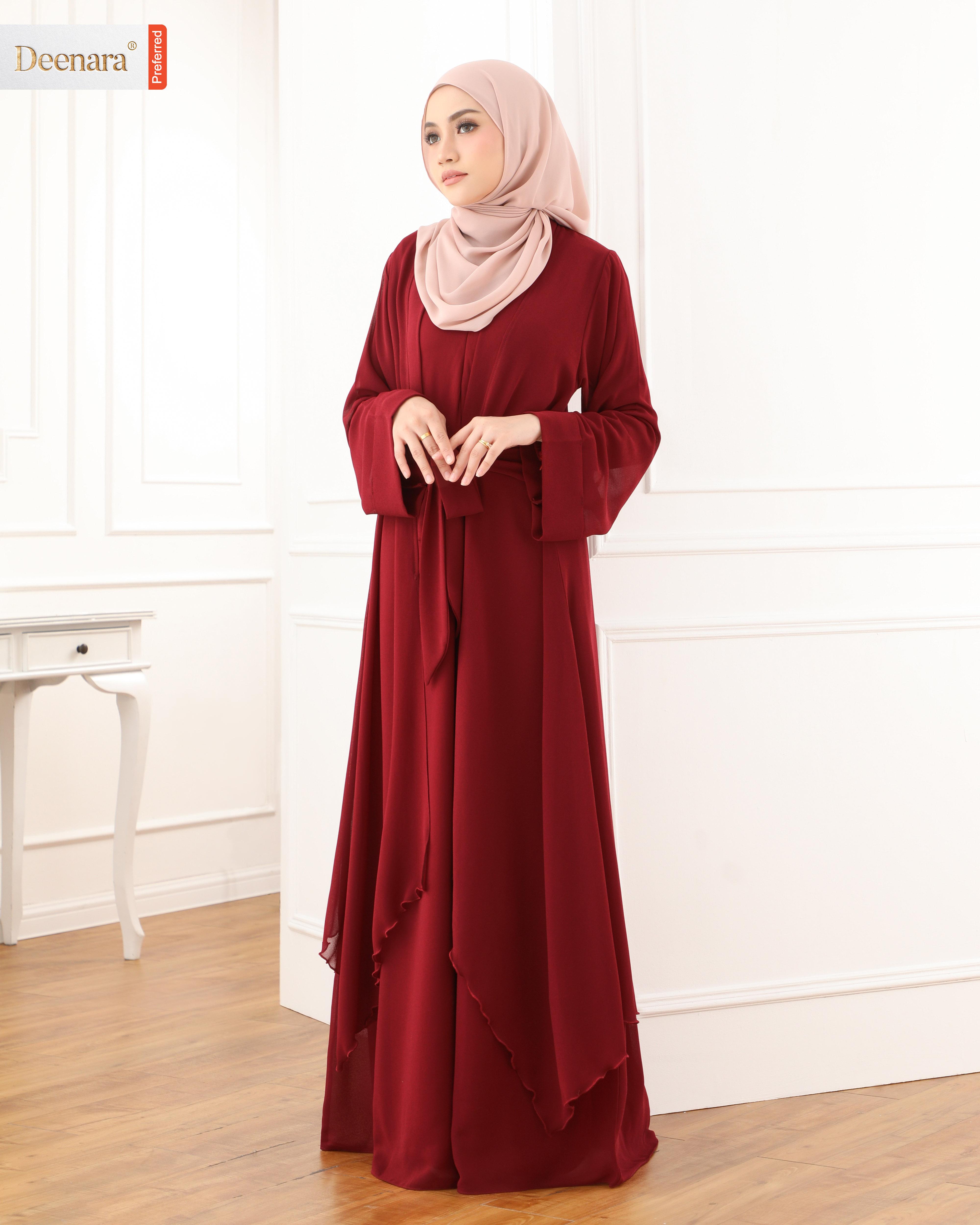 Aafiya Abaya Dress - Maroon