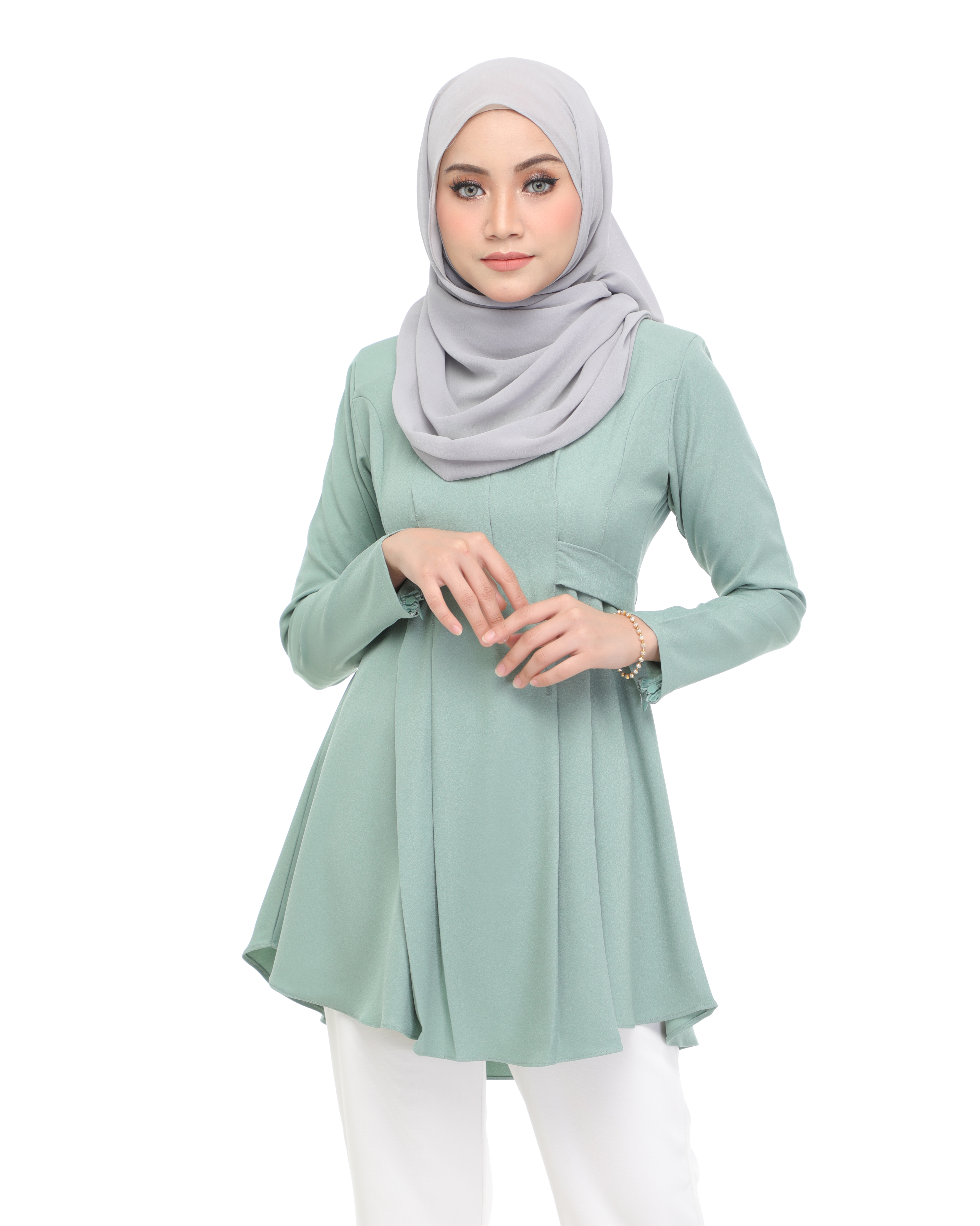 Callista Blouse - Mint Green