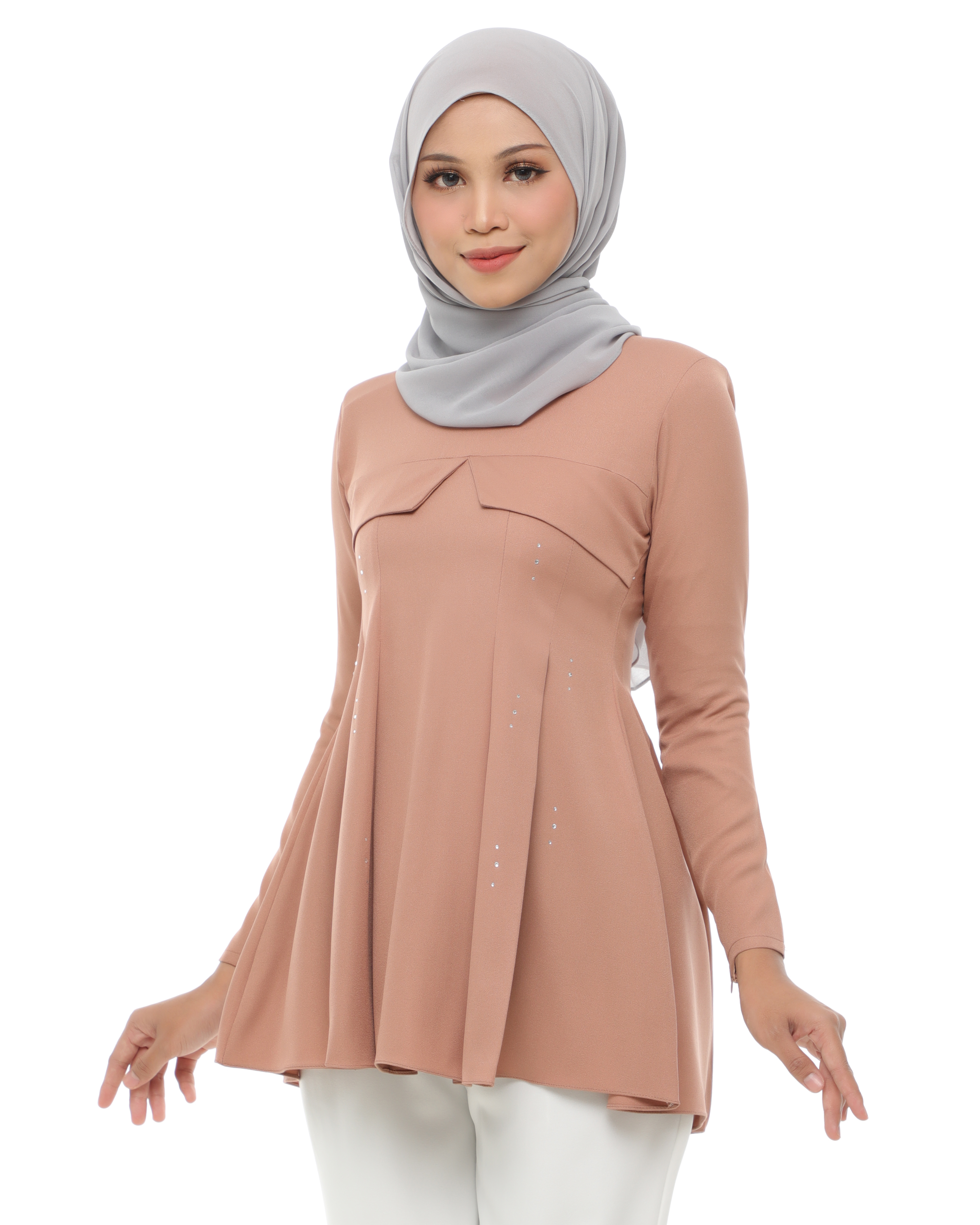 Carissa Blouse - Brandy Brown