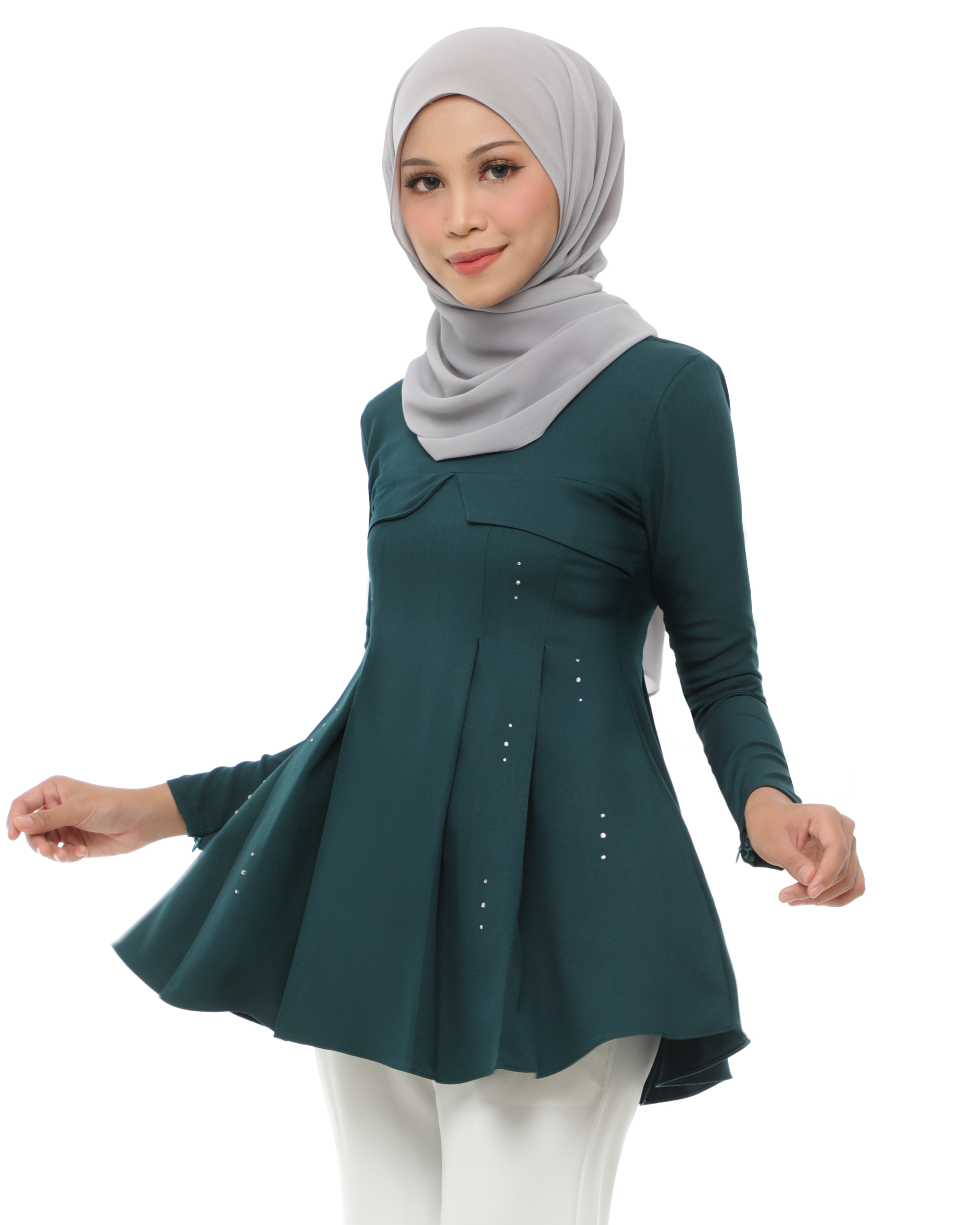 Carissa Blouse - Emerald Green
