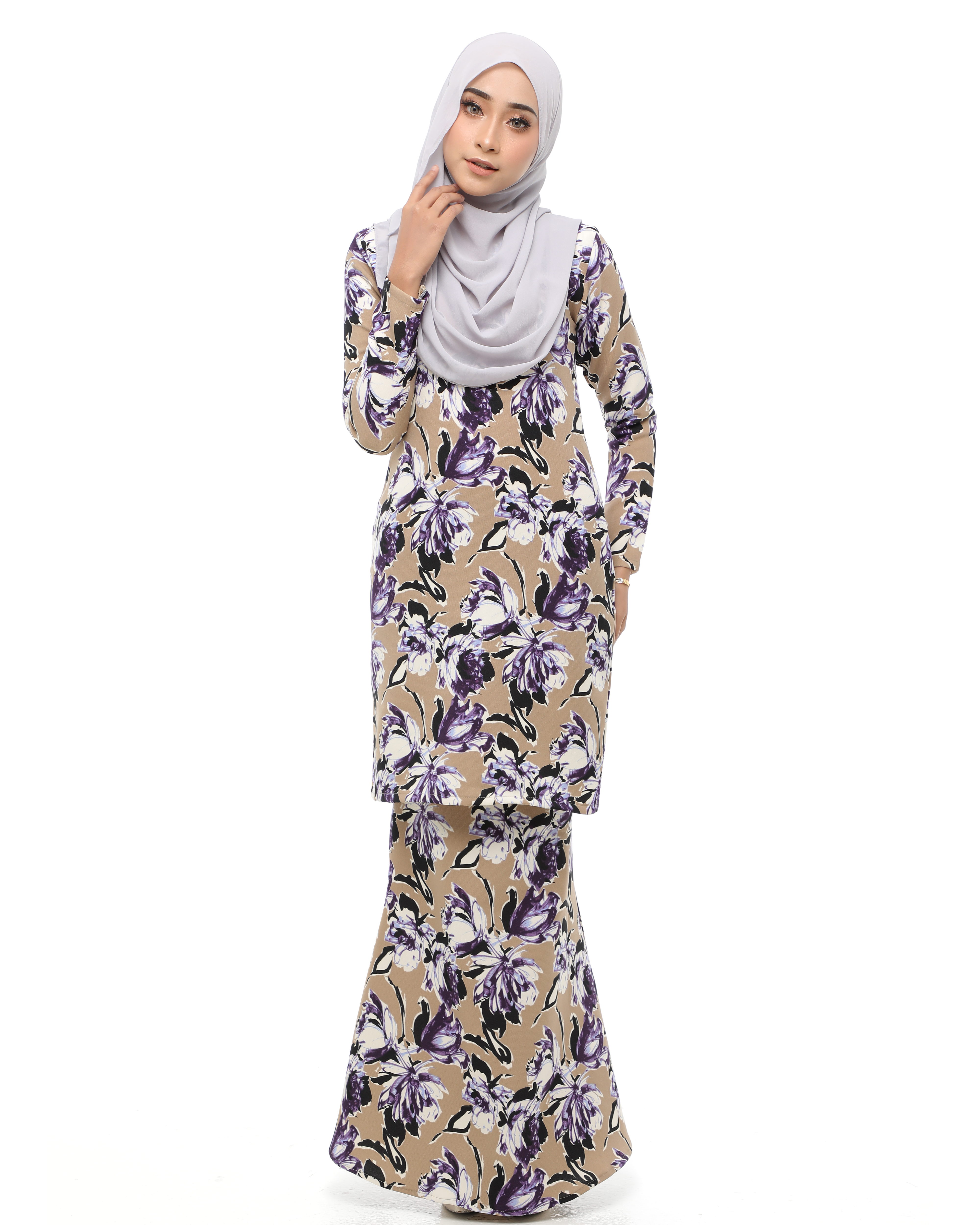 Fiona (Mini Kurung) - Teak Brown