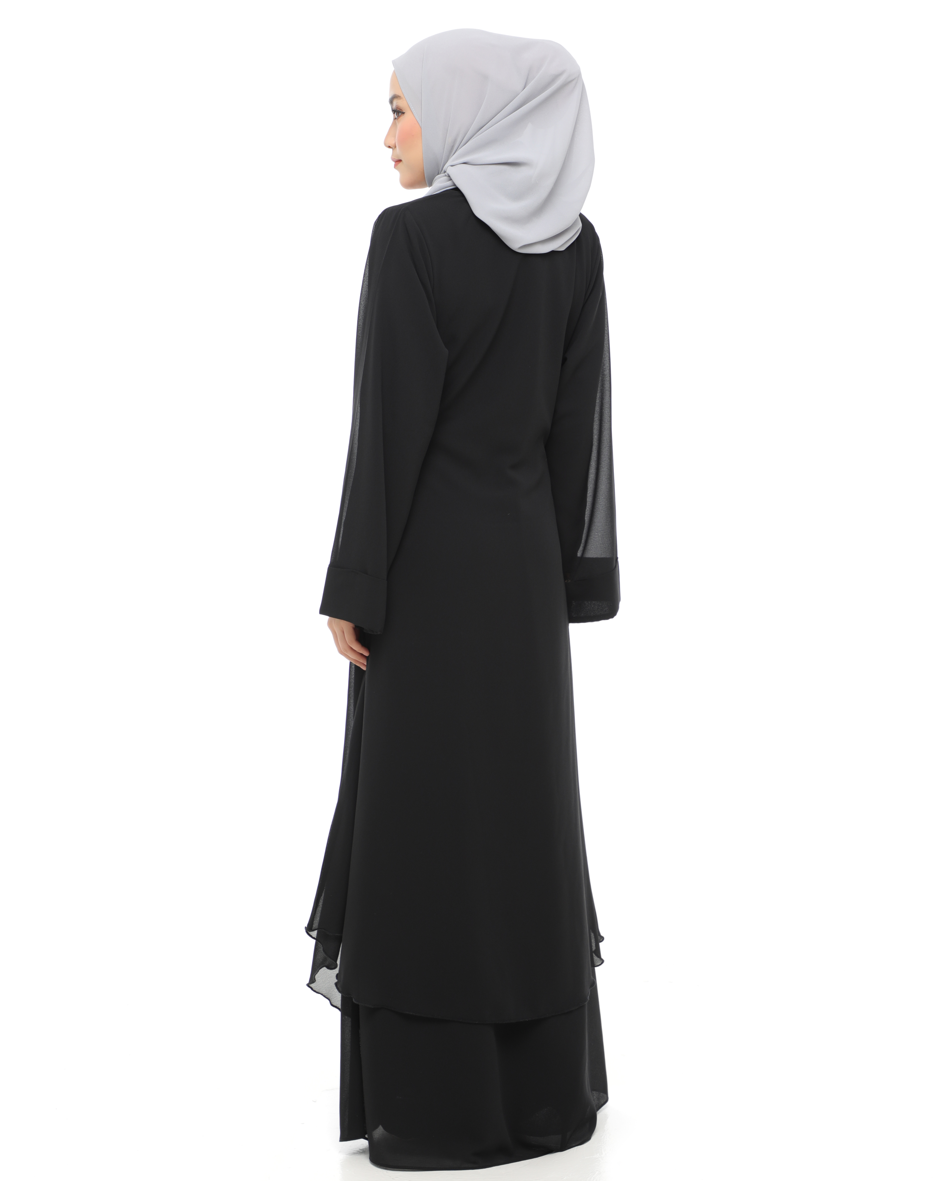 Aafiya Abaya Dress - Black