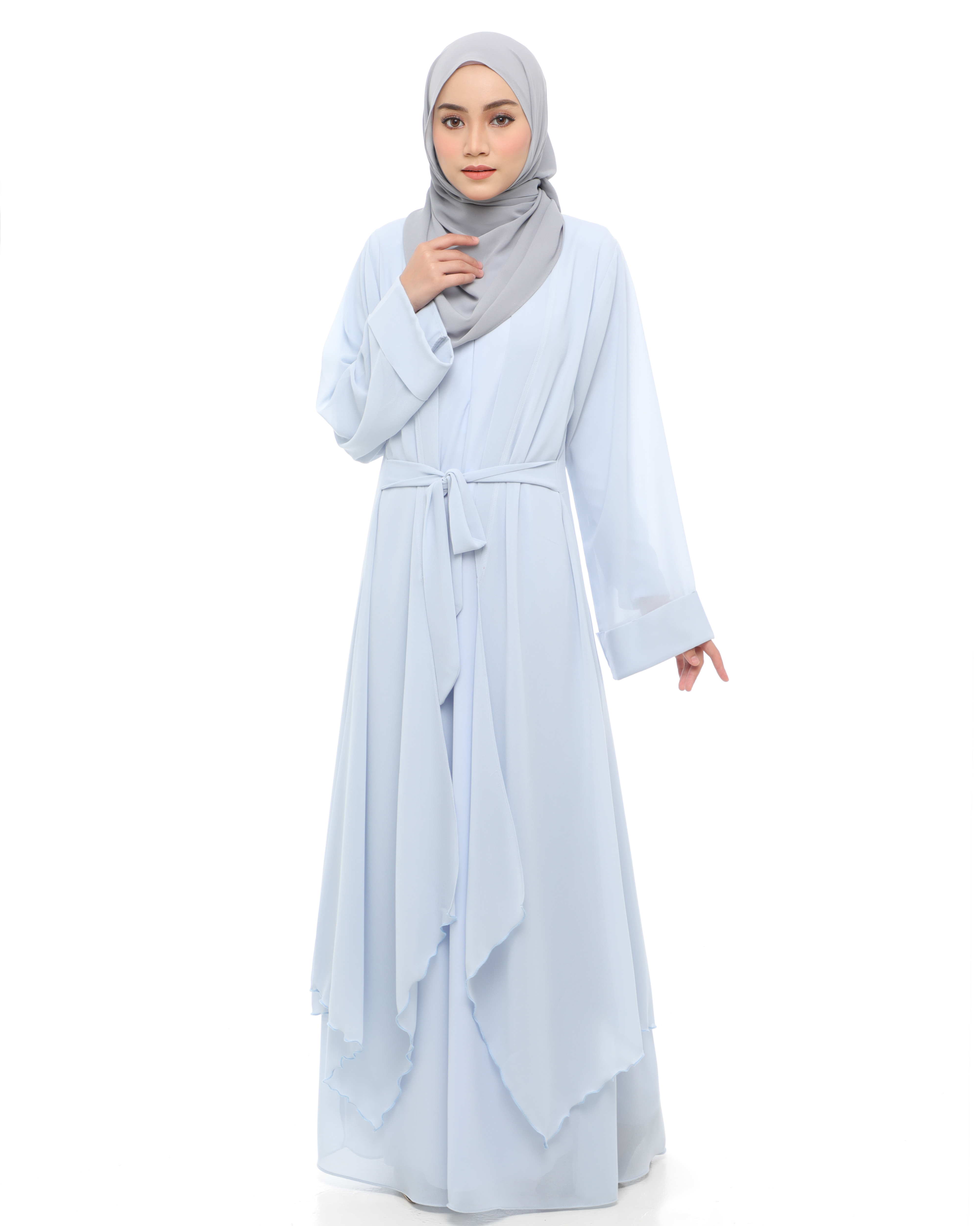 Aafiya Abaya Dress - Baby Blue