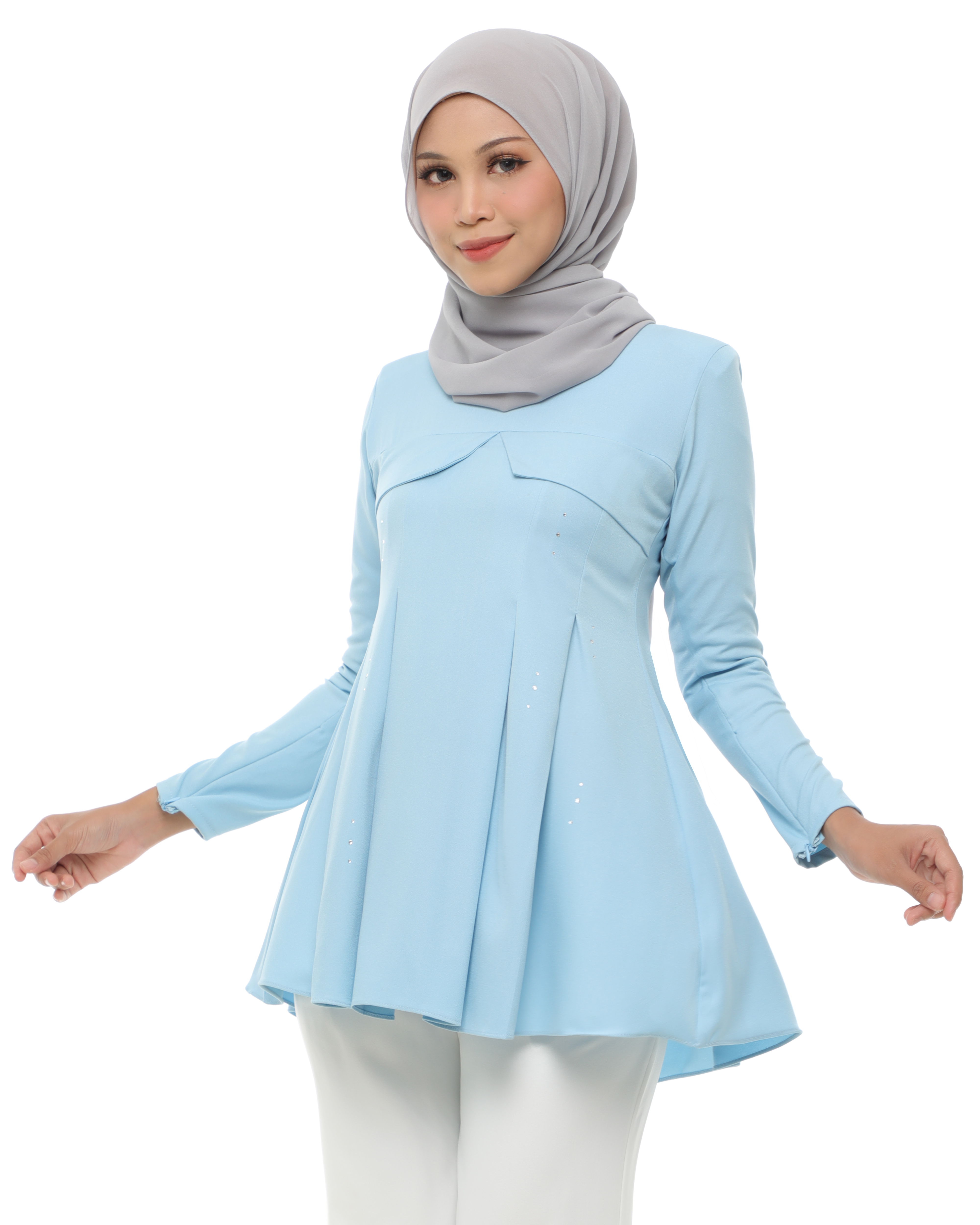 Carissa Blouse - Baby Blue