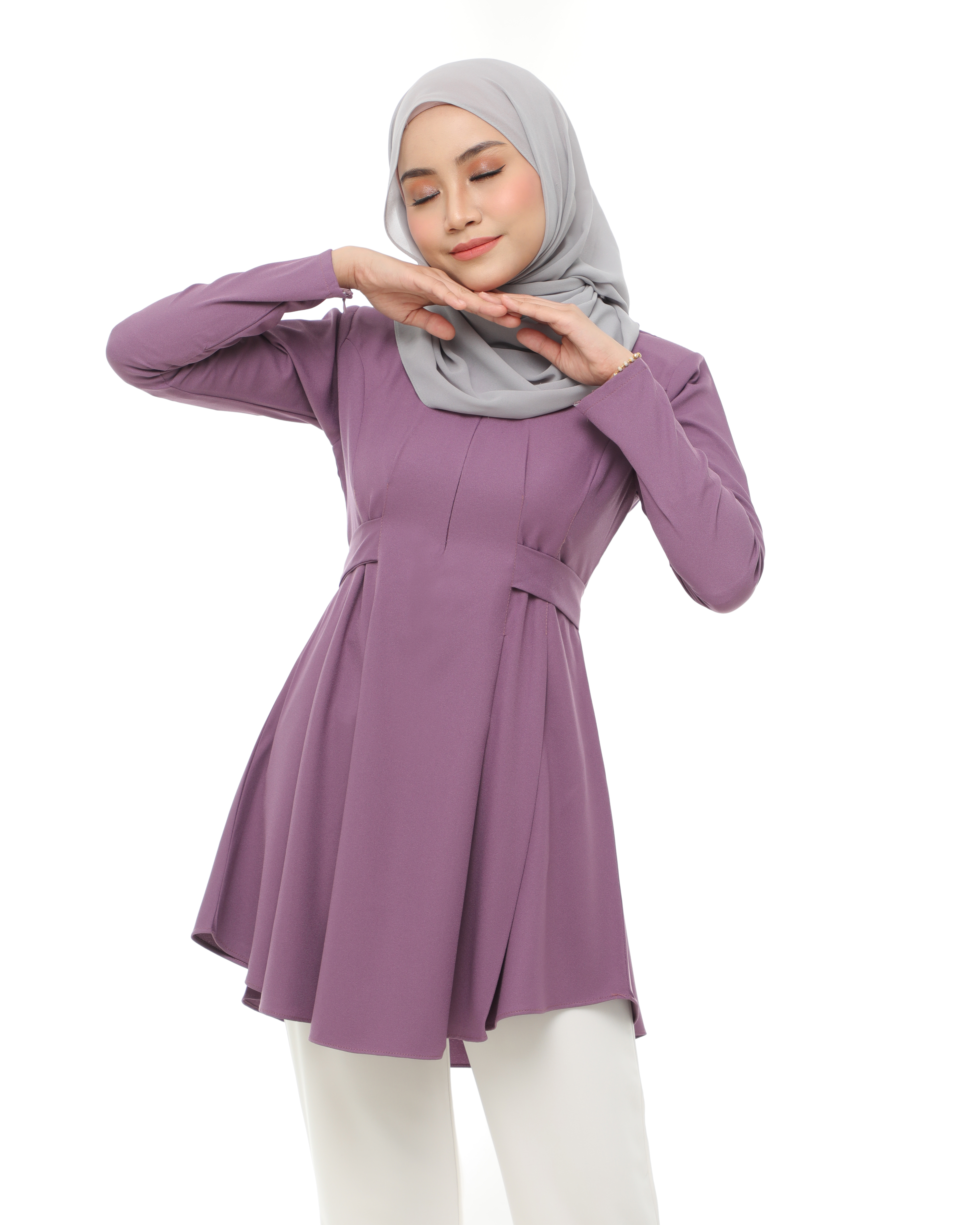 Callista Blouse - Moderate Purple