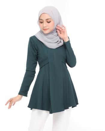 Callista Blouse - Emerald Green