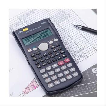 Deli Scientific Calculator 12-Digits Calculator ED82MS Dark Blue