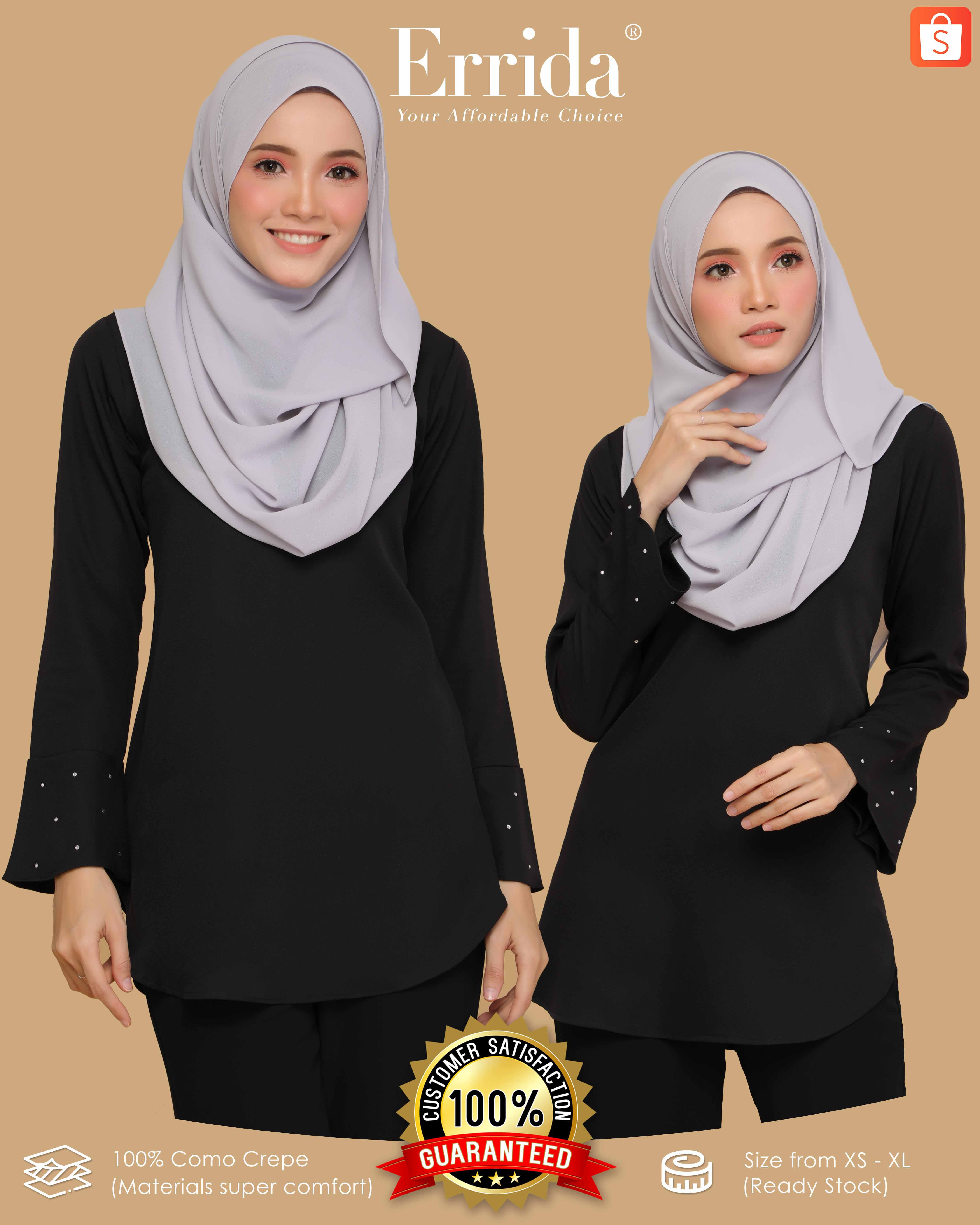 CHENTA BLOUSE - BLACK
