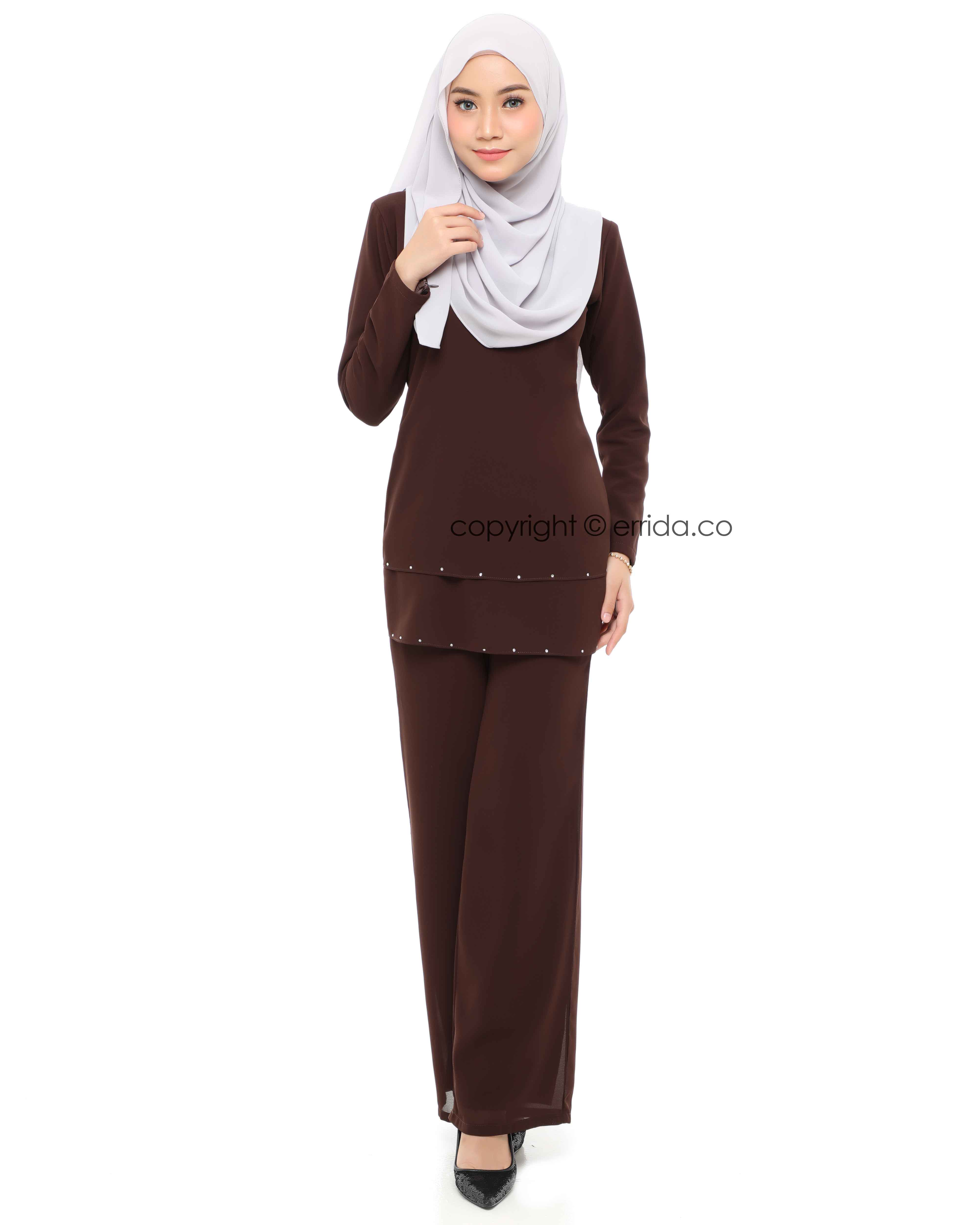 ELYSIA SUIT - DARK BROWN