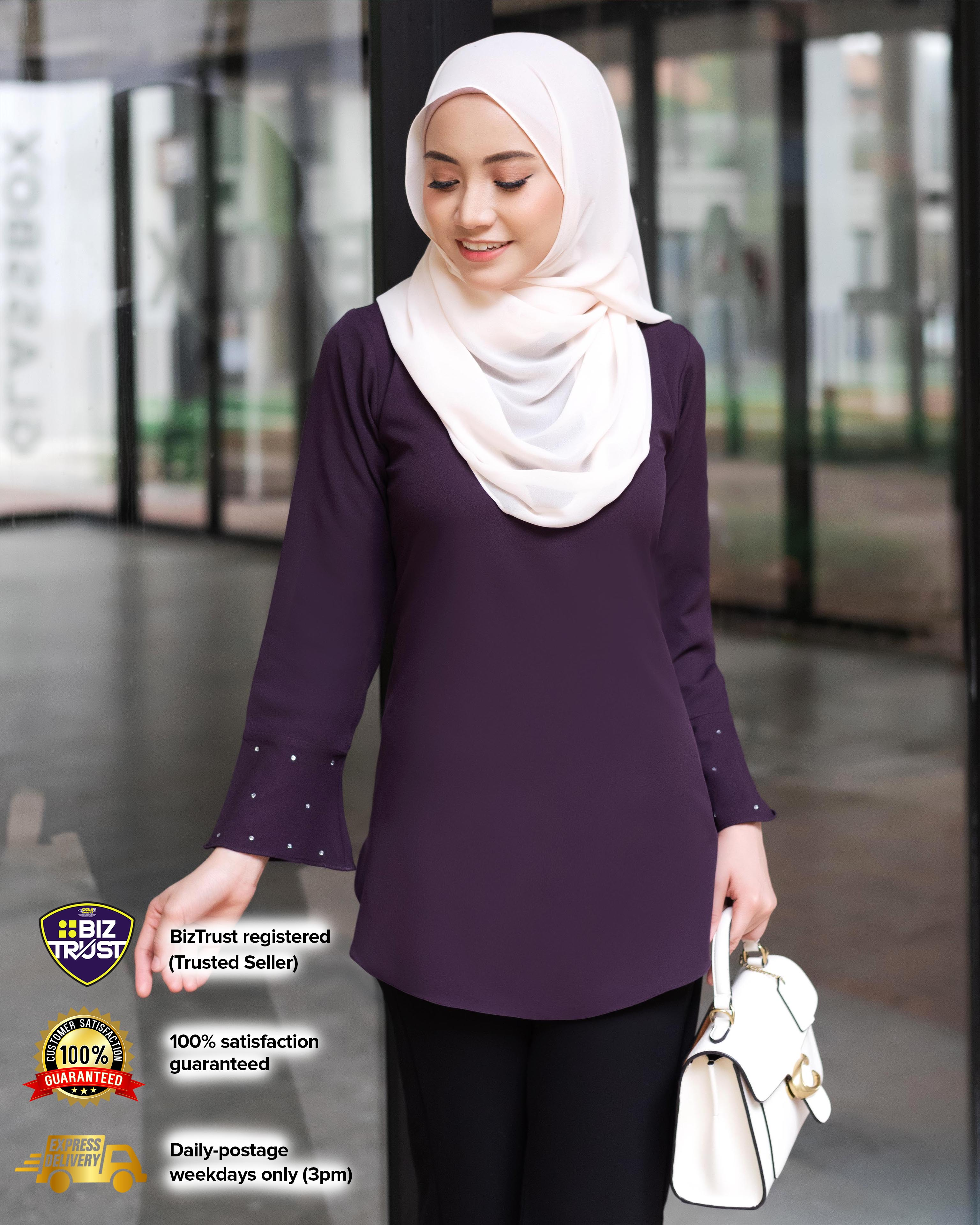 CHENTA BLOUSE - DARK PURPLE