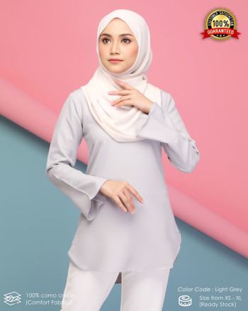 CHENTA BLOUSE - LIGHT GREY