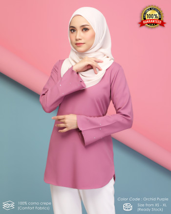 CHENTA BLOUSE - ORCHID PURPLE