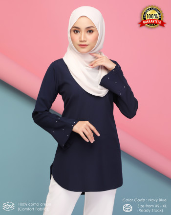 CHENTA BLOUSE - NAVY BLUE