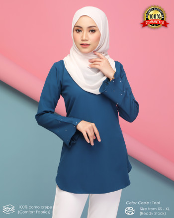 CHENTA BLOUSE - TEAL