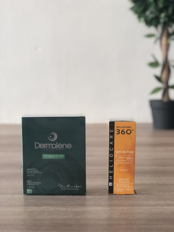COMBO DEAL - Anti Aging and Dry Skin Set & Heliocare GOF - Dermalene Skin, Hair & Nails