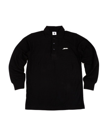BAEK POLO L/S - BLACK
