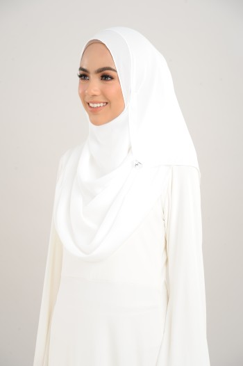 Chiffon Shawl Pure White