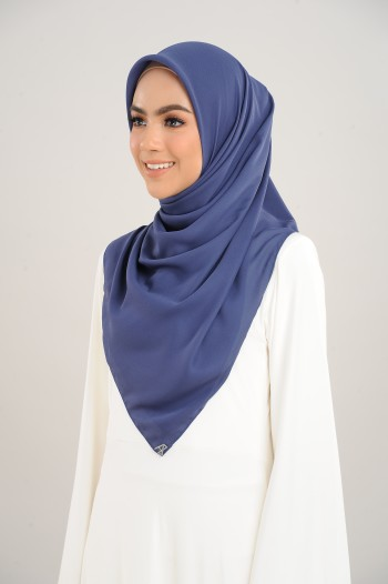 Chiffon Square Blue Depths