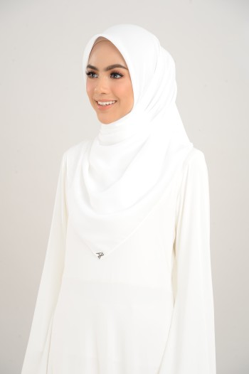 Chiffon Square Pure White