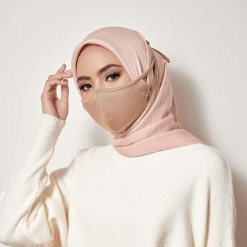 AZ Mask Single Tie-On Strap Almond