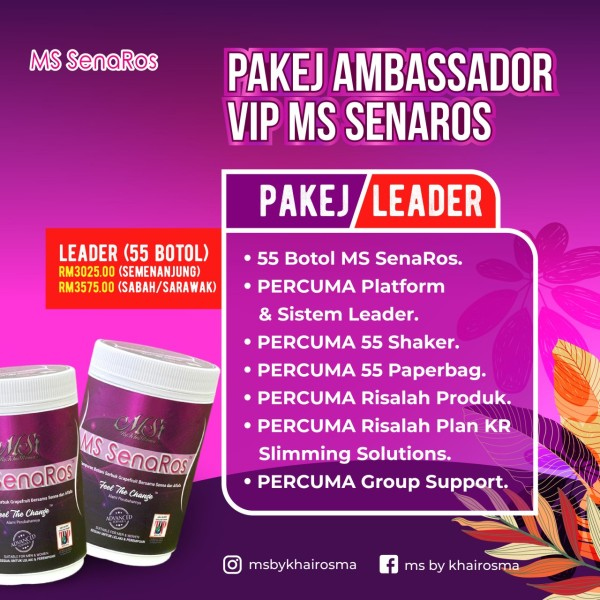 LEADER (55 BOTOL) - SEMENANJUNG - MS SENAROS PLUS