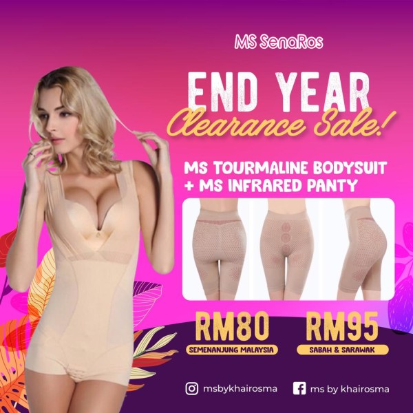 MS TOURMALINE BODYSUIT + MS INFRARED PANTY (EXTRA COMBO) - End Year Clearance Sale! - MS SENAROS