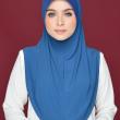 Aafiah (L) in Solid Blue - MatBunga Exclusive