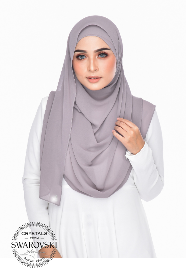 Jasmeen Crystal Swarovski in Pale Grey  - MatBunga Exclusive