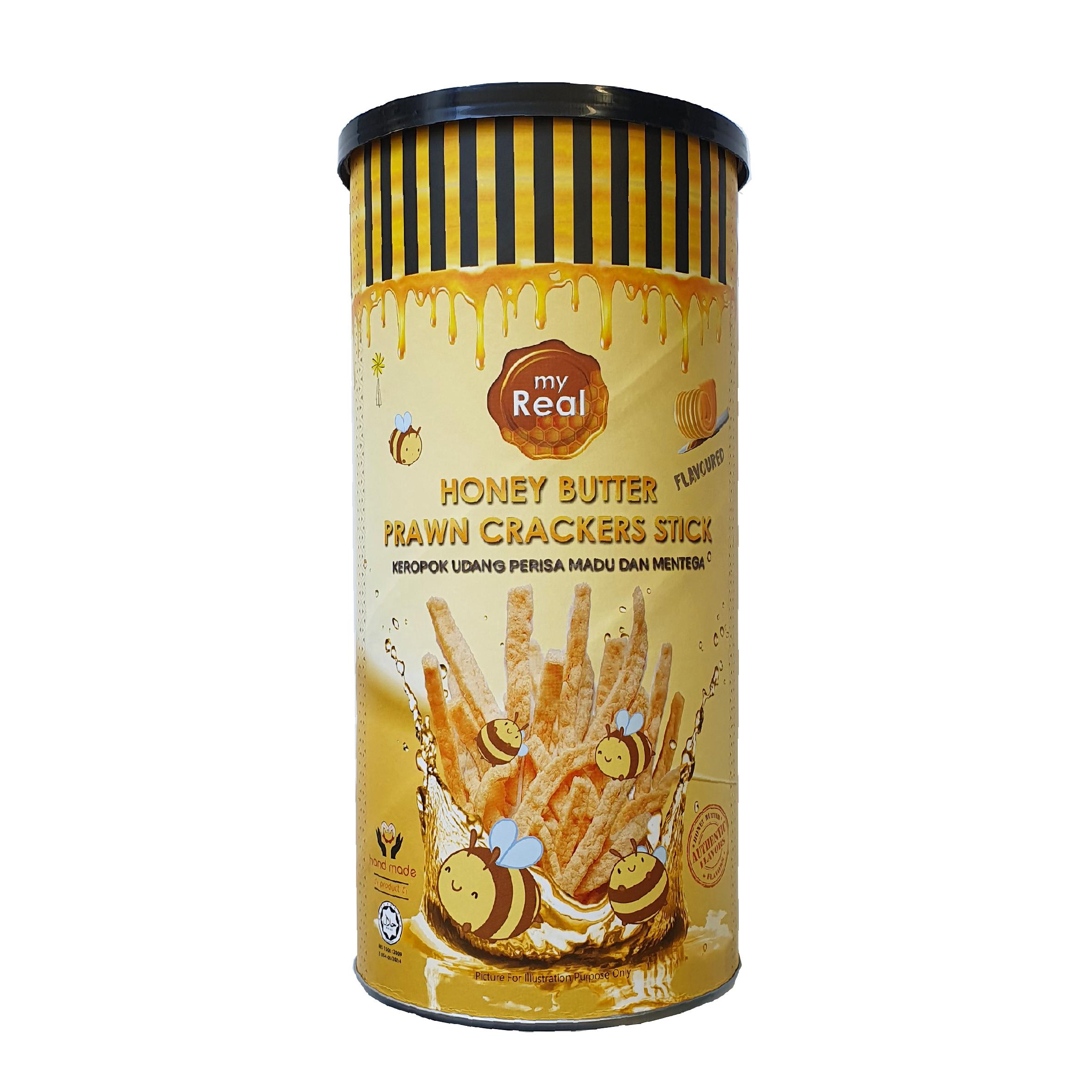 myReal Honey Butter Prawn Crackers Stick 100g