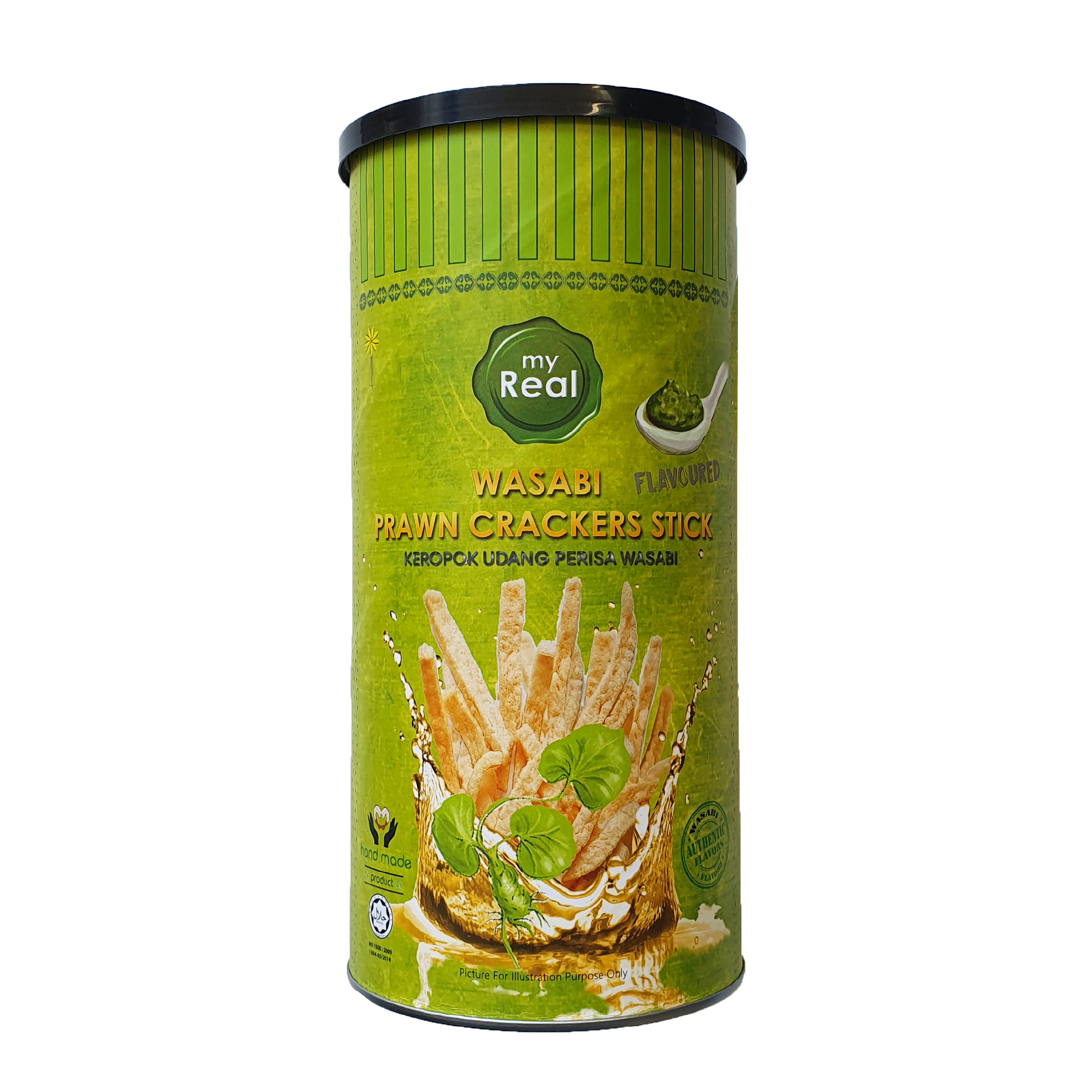 myReal Wasabi Prawn Crackers Stick 100g