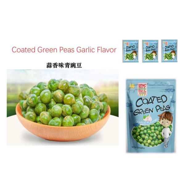 HPG Coated Green Pea Garlic Flavour 80g - Lumut Crackers